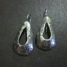 Orecchini d'argento Hill Tribe Fine Sterling Silver Earrings Teardrop Tibetan