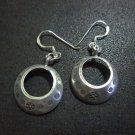 Hill Tribe Fine Vintage Sterling Silver Earrings Religious Tibetan Dangle Hoop