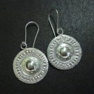 Hill Tribe Fine Fashion Sterling Silver Earrings Tribal Tibet Styles Shine Disc
