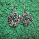 Thai Hill Tribe Earrings Fine Silver Fashions Dangle Mandara Celtic Knot Vintage