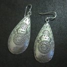 Orecchini d'argento Hill Tribe Fine Sterling Silver Earrings Tibet Styles Drop