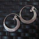 Fine Silver Earrings Hill Tribe Karen argento orecchini oorbellen Vintage Round