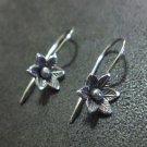Orecchini d'argento Hill Tribe Fine Sterling Silver Earrings Flower small Artsy