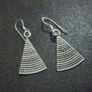 Orecchini d'argento Hill Tribe Fine Sterling Silver Earrings Triangle Tibetan