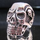 Skull Rings Size 9 Men's Jewelry Bone Skeleton Male Hodeskalle Smykker ring mann