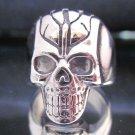 Skull Rings Size 9 Men's Jewelry Male Satan Devil Hodeskalle Smykker ring mann