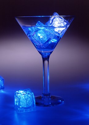 Blue Single Litecubes-Flashing LED Ice Cube Party Light