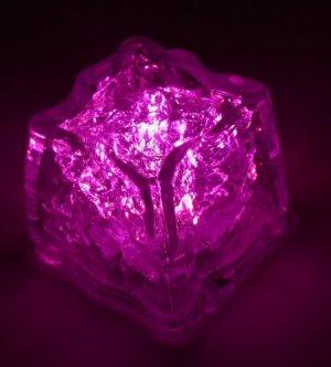 Pink Single Litecubes-Flashing LED Ice Cube Party Light
