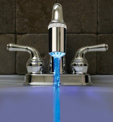 Blue LED Faucet Light