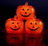 Pumpkin Litecubes-Flashing LED Ice Cube Party Light
