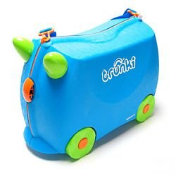 TRUNKI-Blue Terrance-Kids Pack Carry Tow & Ride Suitcase