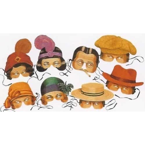 Roaring Twenties Collection of 8 Costume Party Masks