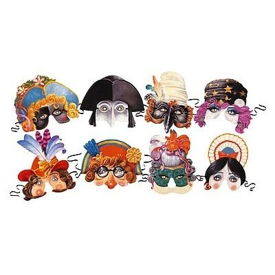 Venetian Collection Of 8 Costume Party Masks