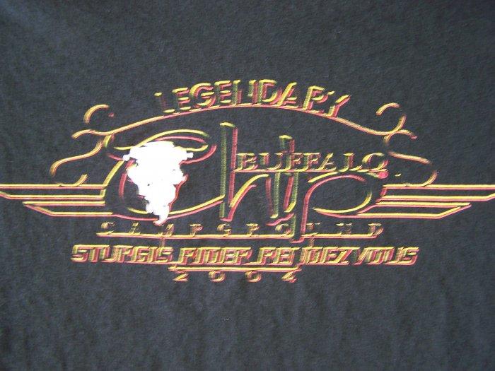 Legendary Buffalo Chip CampGround Sturgis Rider Rendezvous 2004 T-Shirt