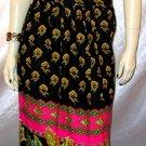 Vintage 60s 70's Hippie Maxi Peasant Skirt PSYCHEDELIC KALEIDOSCOPE S.