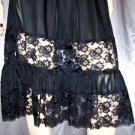 Wicked Goth Mistress Vintage Black Lace Panel Skirt S.