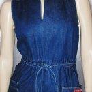 Vintage 80's Denim DISCO Designer Dress SASSON ~RARE SZ 8/9 S.