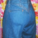 SUPER FLY FUNKY Hippie Girl Blue Denim Bell Bottom Jeans MINT NOS XS Sz 26 5 vintage 70s