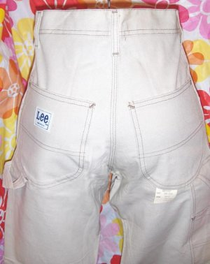 RARE Vintage 70s CLASSIC LEE High Waisted Carpenter Jeans NOS XS/XXS