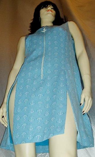 ANCHORS AWAY SEXY SAILOR GIRL 70's Nautical MINI DRESS M