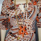 Vintage 70s GROOVY HIPPIE Bohemian Tunic & Skirt Outfit S/M boho babe