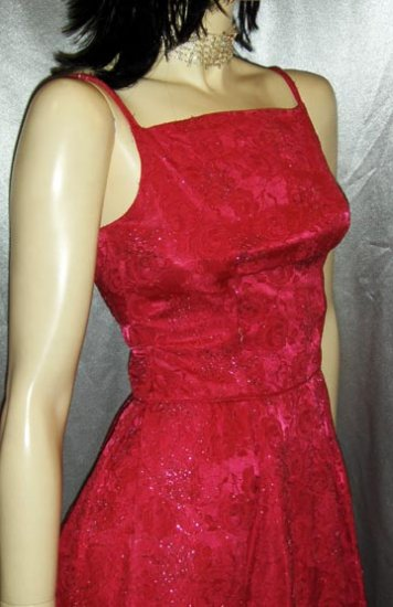 GLITTER GLAM vintage 50s 60s Electric PINK Sparkle Satin Brocade Cocktail PARTY DRESS XS/XXS