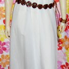 Designer JOHN KLOSS Vintage 70s Boho White Cotton SUNDRESS Slipdress M.