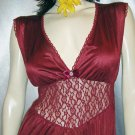CRANBERRY ROSE Deep V Glamour Girl Gown M. vintage 70s 80s