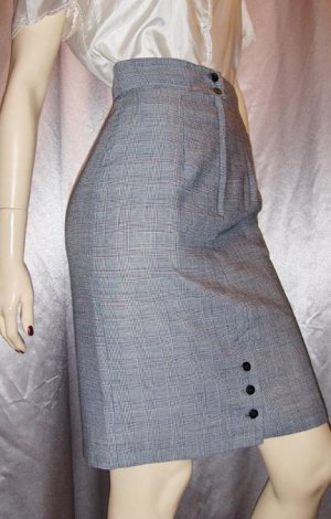 SEXY SECRETARY High Waisted Skinny Pencil Skirt S/XS vintage 80s