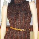 80s DISCO GLAM Copper Metallic SEXY Formfit Mini SWEATER DRESS M. vintage vamp
