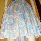70s SPRING FEVER Butterfly Print Accordion Pleated Skirt S/M