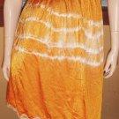 60s Hippie Girl Vintage Tie Dye Psychedelic Slip Skirt