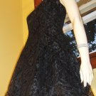80s VAMP Sexy Sheer Black Lace Party Girl Halter Mini Dress vintage gothic glam S.