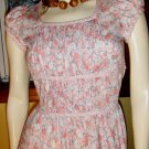 Vintage 70s Boho Flirty Floral Puff Slv  Jane Schaffhausen belle france Designer Dress Sz 8