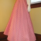 Vintage 50s Rockabilly Swing Kitten Red Gingham Full Sweep Pin Up Circle Skirt RARE S.