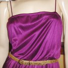 GLAM GODDESS 70s Shimmery Plum Slinky Disco Party Dress S/M