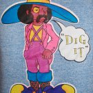 "70s FUNKADELIC Mens ""DIG IT"" Cartoon Decal Tank Top MUSCLE Tee XL"