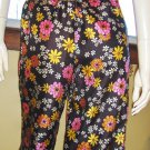 SWINGIN' 60s Psychedelic Grooviest Hippie Girl Flower Power Pants S/M