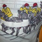 Vintage 70s Horse Racing Jockeys Men's Novelty Print Shirt RARE MINT NOS M.