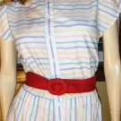 80s Preppy Rainbow Candy Stripes Sassy Summertime Romper Playsuit S/M