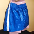 Vintage 80s OLD SKOOL Men's KOOL Blue Sporty Summertime Swim Trunks Shorts MINT NWT M.