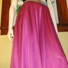 Vintage 70s Disco Glam Shimmery Fuschia Dancing Queen Skirt  S/M