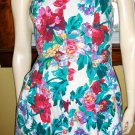 RETRO 80s does 50s Vintage Strapless Floral Party Swing Dress Sz 9/10