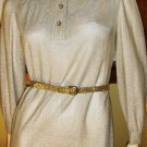 Vintage 70s Disco Glam Gold Shimmer Glitter Girl Maxi Party Dress M.