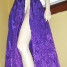Trashy Flashy Vintage 80s Electric Purple BIG BOW Open Slit Diva Maxi Skirt Sz 5/6
