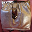 Vintage Shimmery Metallic Gold Glam Evening Bag Purse Party Handbag 60s 70s