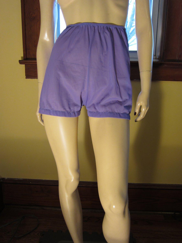 Vintage Lavender Purple Nylon Long Leg Tap Panty Brief 50s 60s M.