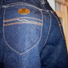 Vintage YVES SAINT LAURENT High Waisted Disco Designer Denim Blue Jeans SZ. 28  70s 80s