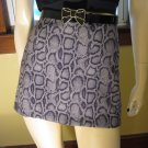 90s Wild Child Python Snake Print Mini Skirt XOXO Sz 9