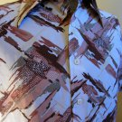 Vintage 70s Artsy Graphic Print Swanky Mens Shirt L 16/16 1/2 SEARS